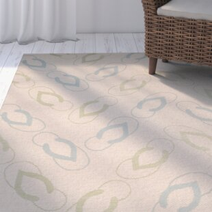 Lake Park Beige/Aqua Indoor/Outdoor Area Rug