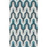 Kelch Hand-Tufted Blue/Gray/Teal Area Rug
