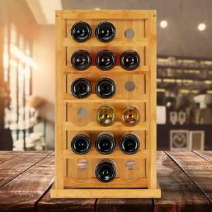 18 Bottle Tabletop Wine Rack Elsa By Natur Pur