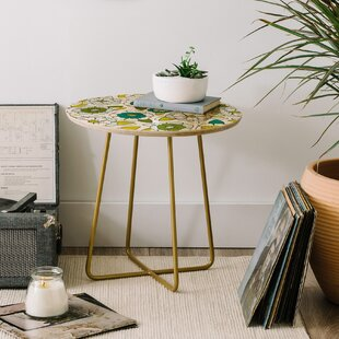 Heather Dutton Tropical Bloom End Table by East Urban Home
