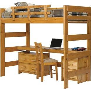 Bunk Bed With Desk For Twin Loft Bed Bunk Beds u0026 With Desks Wayfair