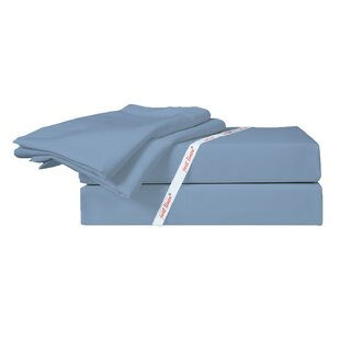Faded 300 Thread Count Solid 100% Cotton Sateen Sheet Set