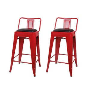 Leather Red Bar Stools