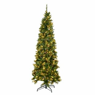 brussels pencil mixed 65ft green pine artificial christmas tree with 350 lights - 65ft Christmas Tree