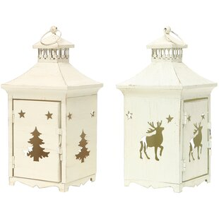 ZiaBella Metal Lantern (Set of 2)