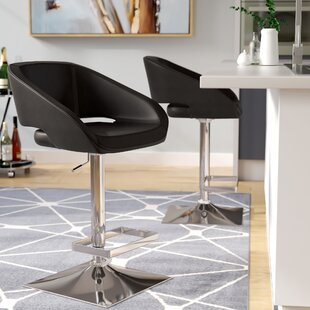 Brierfield Gustavo Adjustable Height Swivel Bar Stool Wade Logan