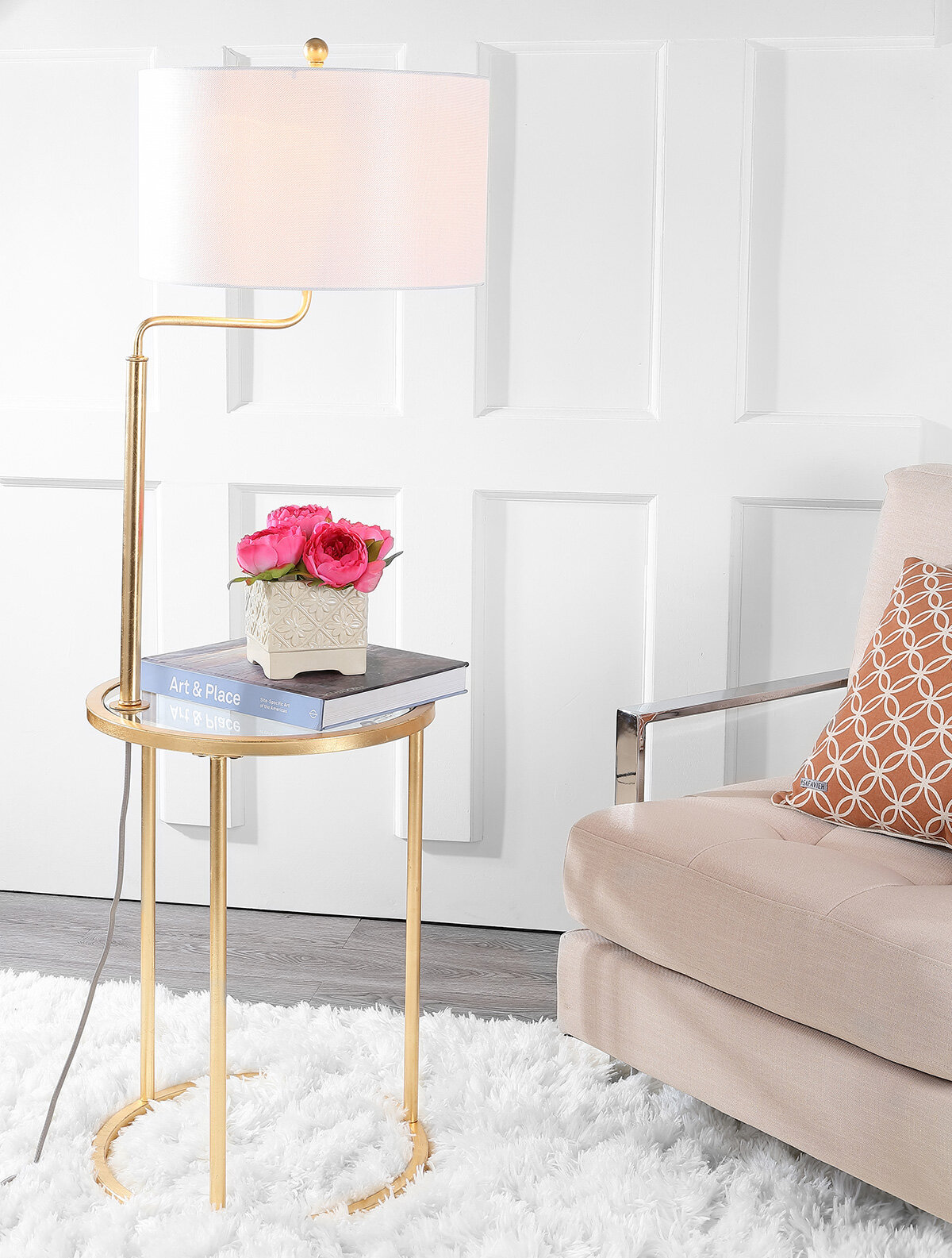 Somerset 57 Tray Table Floor Lamp