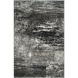 costa mesa black silverwhite area rug - Black And White Rug