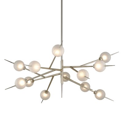 Tempest 12-Light LED Sputnik Chandelier Corbett Lighting
