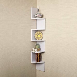 Large Laminated Corner Wall Mount Shelf