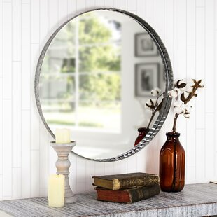Look for Baumgardner Galvanized Metal Round Wall Mirror By Williston Forge