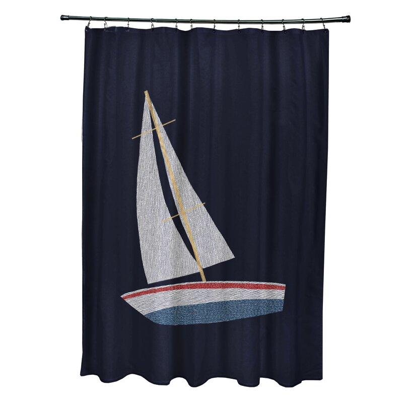 Beachcrest HomeGolden Gate Set Sail Shower Curtain