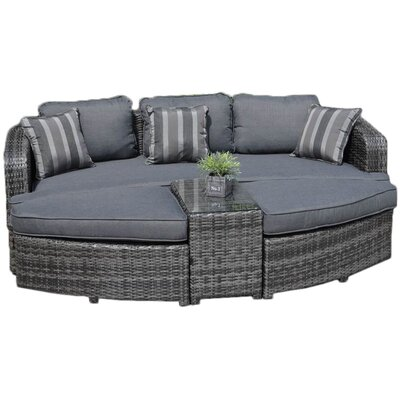 Pleasant Creative Living 4 Piece Daytona Daybed Patio Seating Group Lamtechconsult Wood Chair Design Ideas Lamtechconsultcom