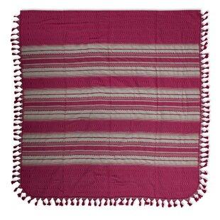 Novica Rosa Mexicana Zapotec Cotton Twin Bedspread