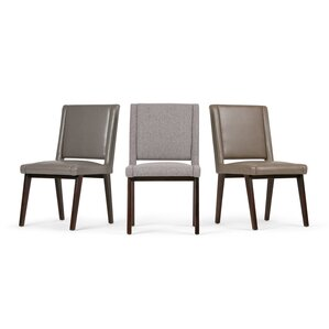 Draper Mid Century Deluxe Upholstered Dining Chair (Set of 2) by Simpli Home