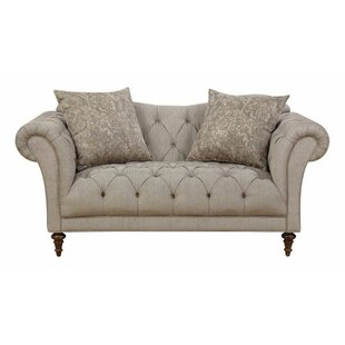 Haygood Chesterfield Loveseat by Alcott Hill