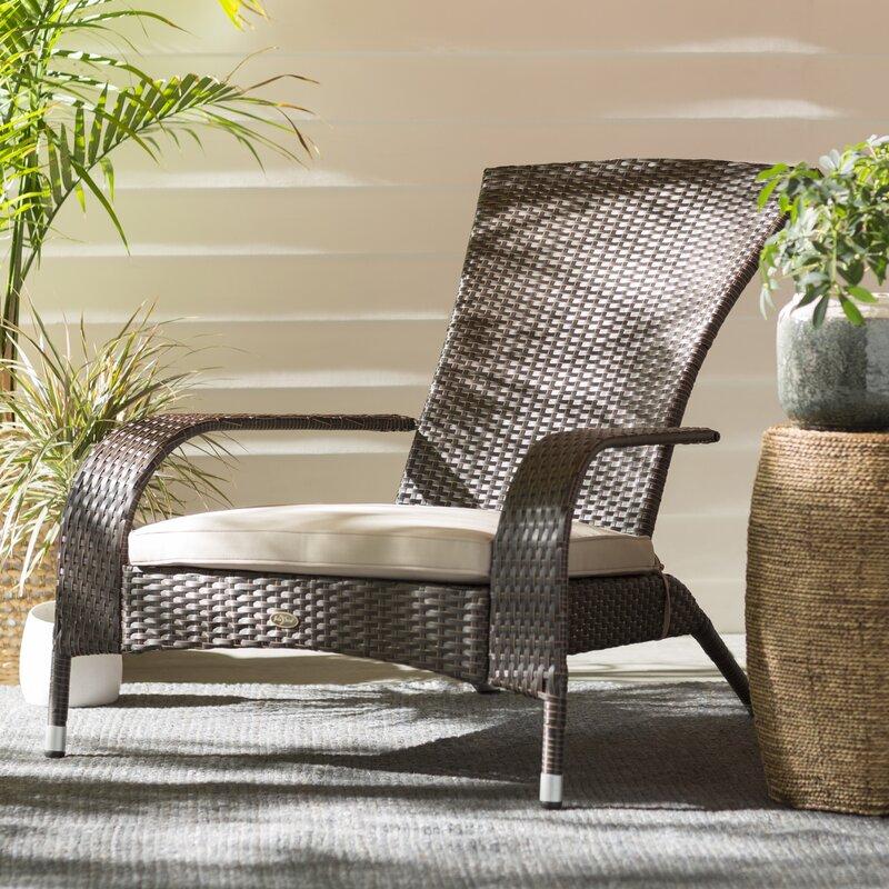 Mitchem Adirondack Patio Chair with Cushions