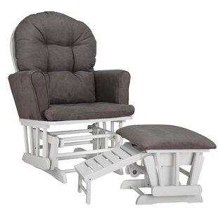 Parker Semi Upholstered Nursing Glider & Ottoman by Graco