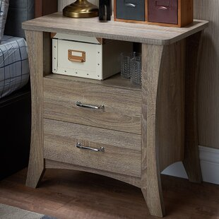 Best Price Plains 2 Drawer Nightstand By Winston Porter