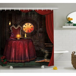 Gothic Mystic Magician Decor Single Shower Curtain