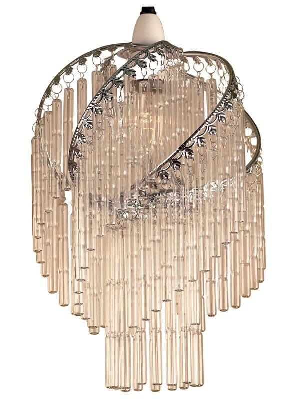 loxton lighting 22 cm lampenschirm glass tube aus glas. Black Bedroom Furniture Sets. Home Design Ideas