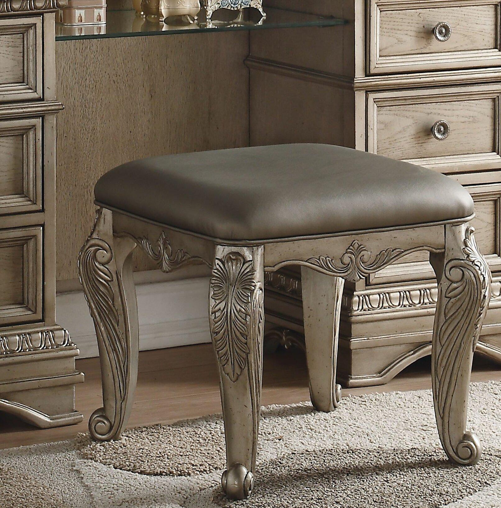 Incredible Senath Vanity Stool Unemploymentrelief Wooden Chair Designs For Living Room Unemploymentrelieforg