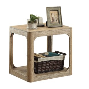 Loon Peak Ridley Lower Shelf Wooden End Table