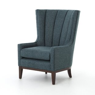 Super Gracie Oaks Elderton Channelled Wingback Chair Living Room Dailytribune Chair Design For Home Dailytribuneorg
