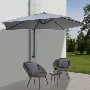 Jaime 3m Wall Mount Parasol By Freeport Park