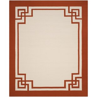 Buy Ravenwood Hand-Hooked Off White/Sangria Area Rug By Darby Home Co
