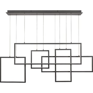 Boyett5-Light LED Geometric Chandelier by Orren Ellis