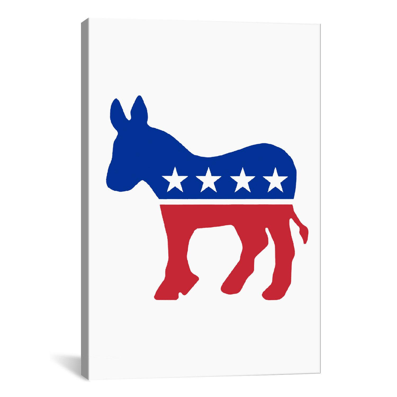 Kitchen Table Democracy: ICanvas Political Democratic Party Donkey Symbol Graphic