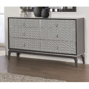 Amelio 6 Drawer Double Dresser by House of Hampton