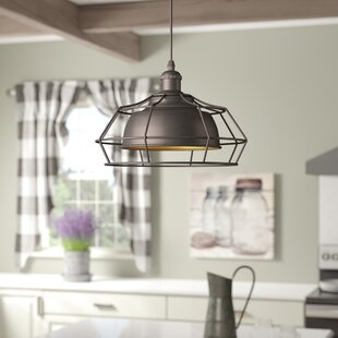 Laurel Foundry Modern Farmhouse Bouvet Industrial 1-Light Geometric Pendant