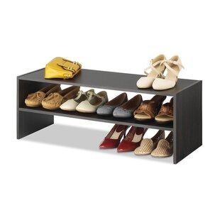 Rebrilliant 12 Pair Shoe Rack