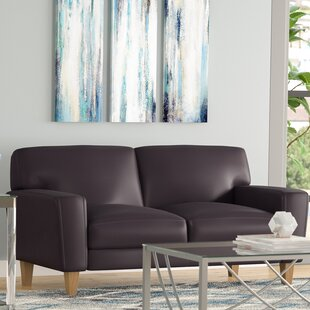 Cadnite Leather Loveseat by Latitude Run
