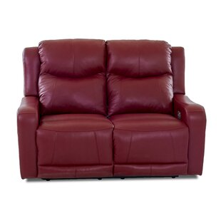 Theodore Leather Reclining Loveseat Red Barrel Studio