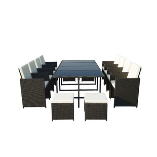 Titcomb 12 Seater Dining Set With Cushions By Sol 72 Outdoor