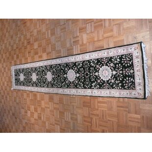 Affordable One-of-a-Kind Benally Hand-Knotted Wool Green Area Rug By Isabelline