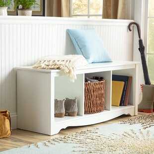 Minot Wood Storage Bench