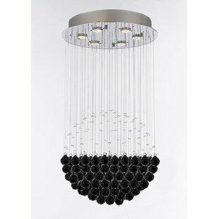 Orren Ellis Wells Modern Raindrop 6-Light Chandelier