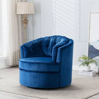 Rosdorf Park Folkes Swivel Barrel Chair Wayfair