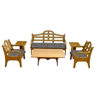 Loon Peak Burliegh 4 Piece Sofa Set with Cushions