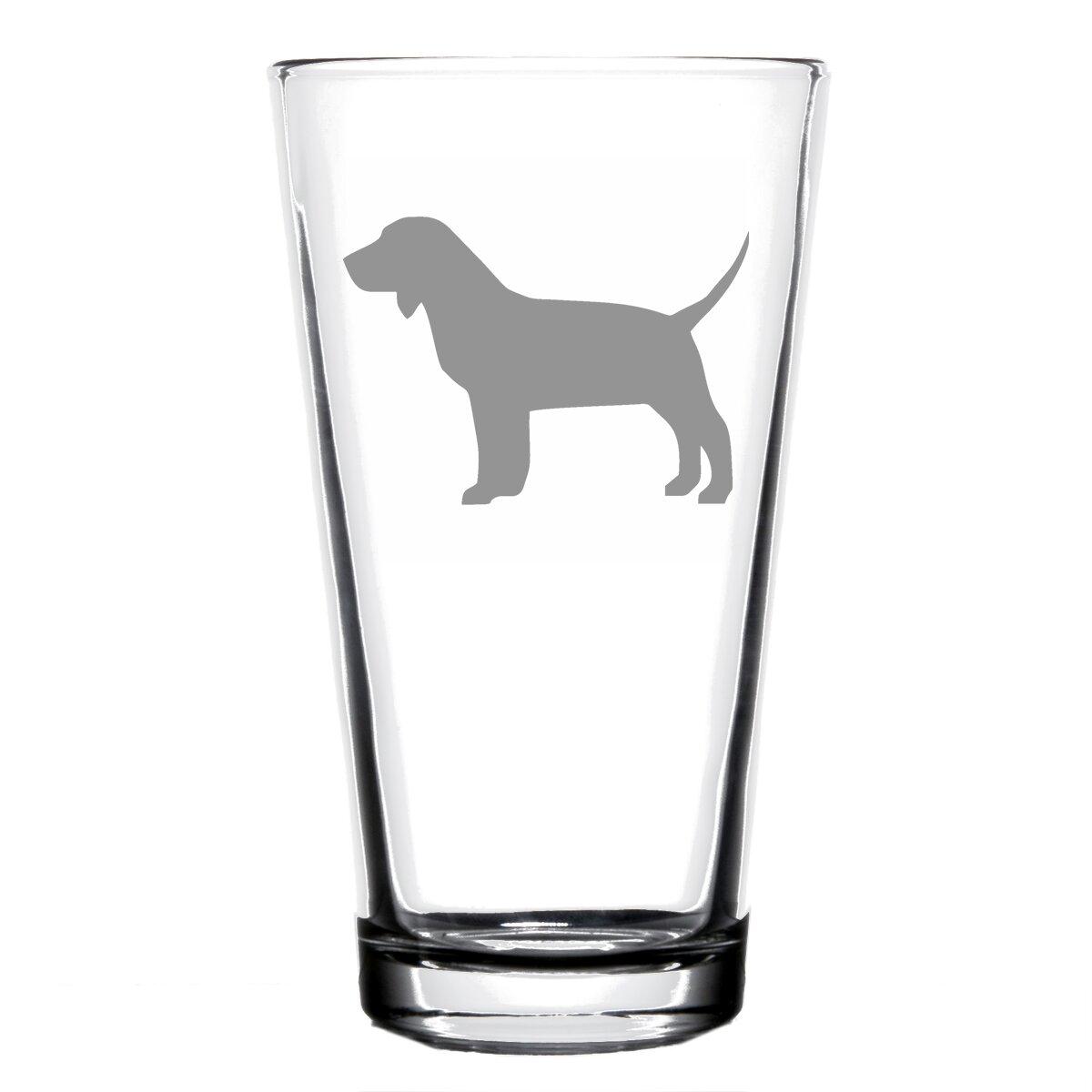 Trinx Beagle Dog 16 Oz Pint Glass Wayfair