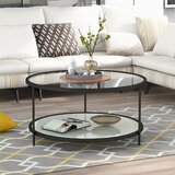 Sagers 3 Legs Coffee Table with Storage by Mercer41