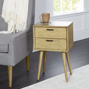 Brenner Mid-Century 2-Drawer Accent Table by Union Rustic