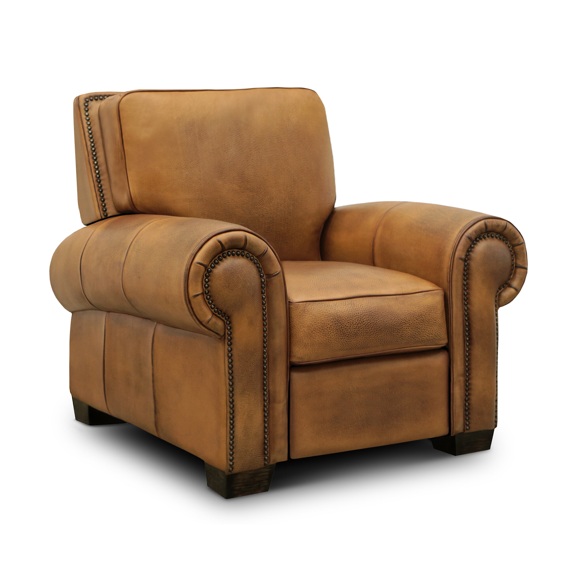 Charlton Home Ozzy Genuine Leather Manual Recliner Wayfair