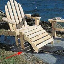 Cedar Adirondack Ottoman by Rustic Natural Cedar Furniture