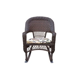 Barbrook Resin Wicker Rocking Chair With Cushion by Bay Isle Home 2019 Sale