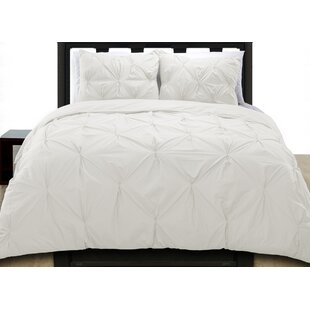 Cottonesque Pintuck Duvet Cover Set